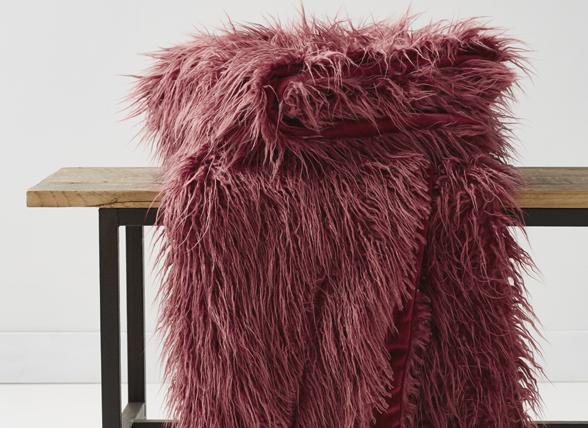 Essenza Home Fake Fur bontplaid Yeti mauve