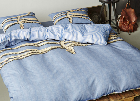 Covers & Co dekbedovertrek Tied Up blue