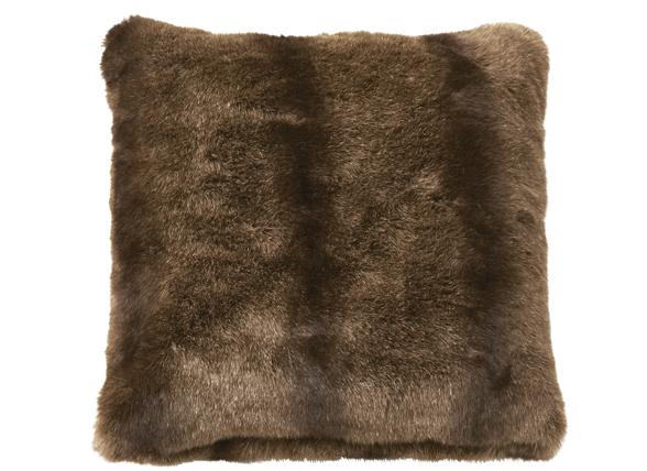 Essenza Home sierkussen Samo Fake Fur brown