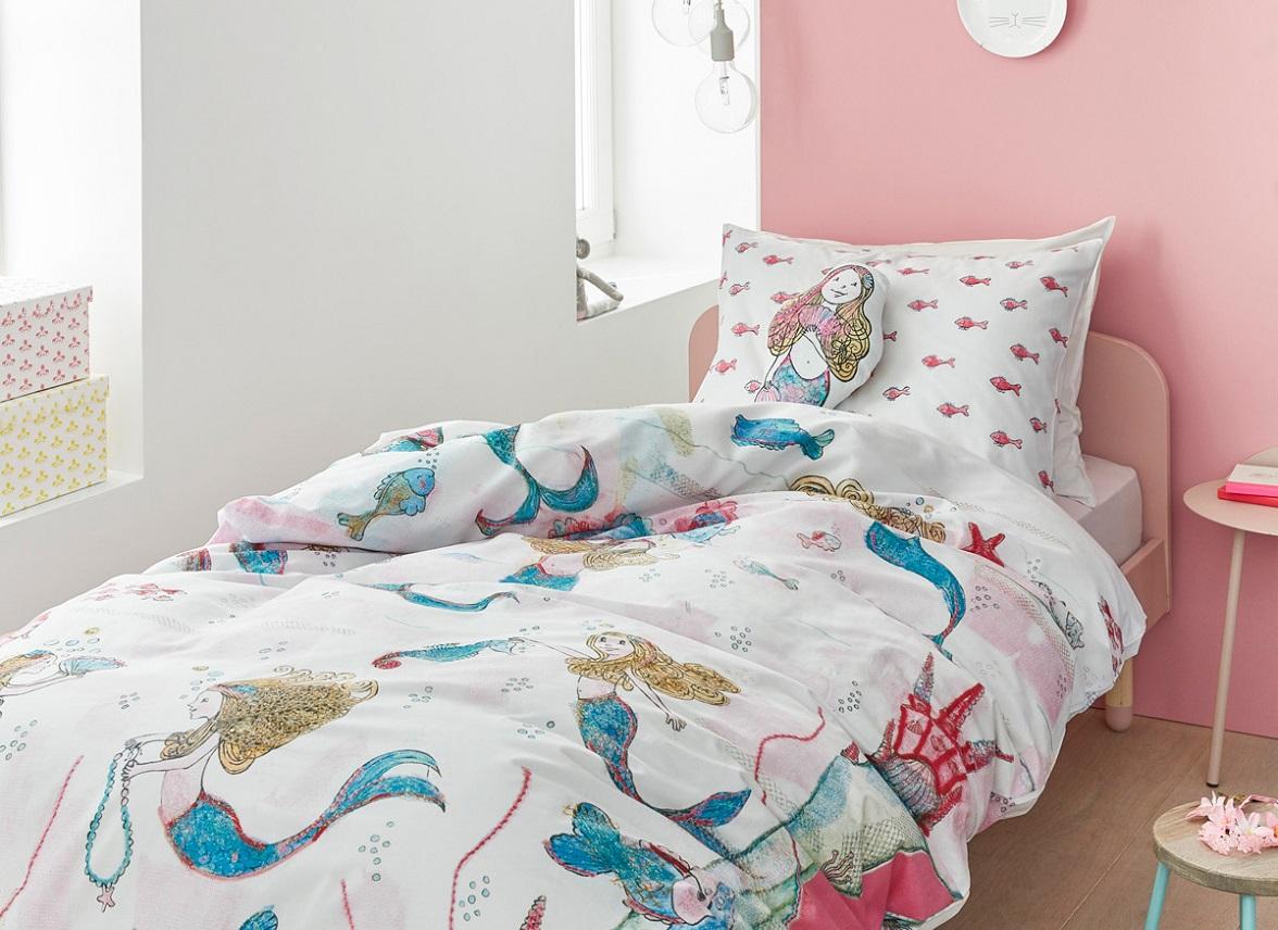 beddinghouse dekbedovertrek mermaids. Black Bedroom Furniture Sets. Home Design Ideas