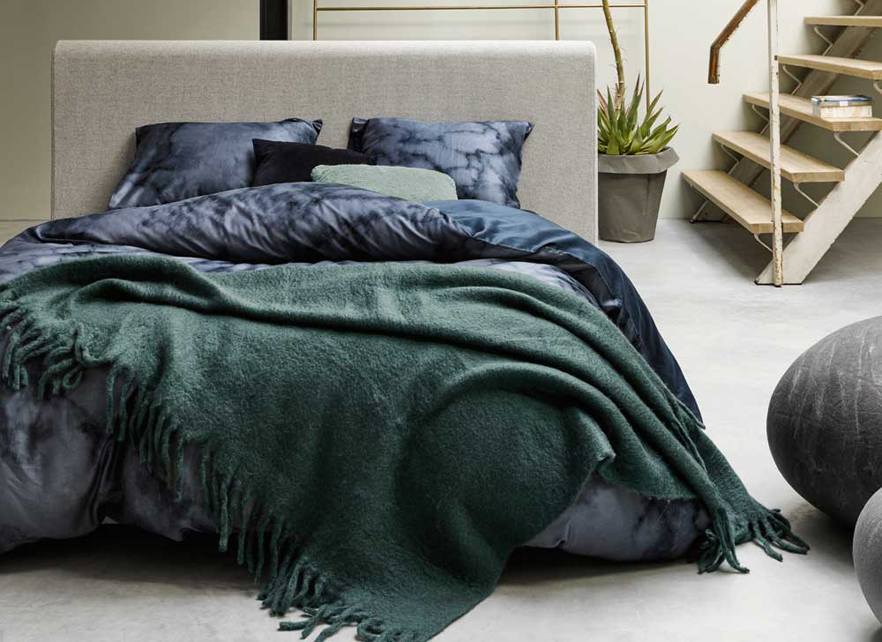 Essenza Home plaid Kyan groen