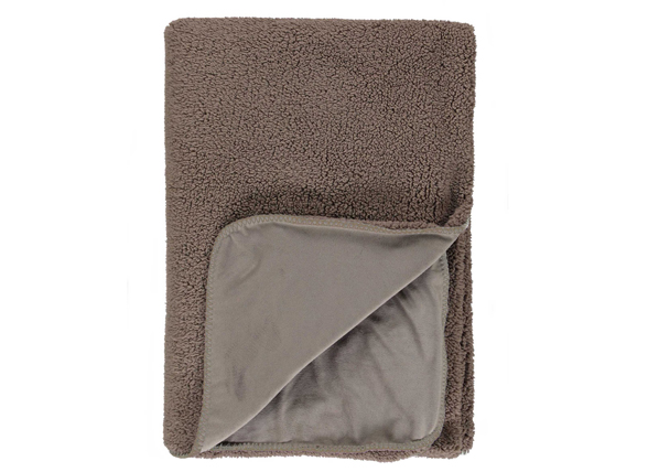 Essenza Home plaid Lammy taupe