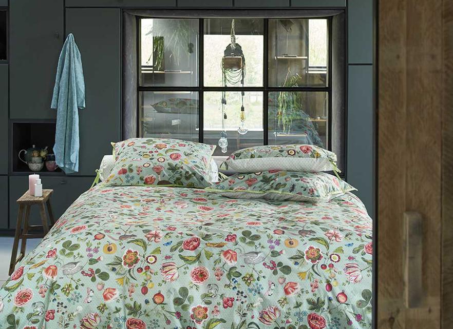 pip studio dekbedovertrek woodsy bluegreen. Black Bedroom Furniture Sets. Home Design Ideas