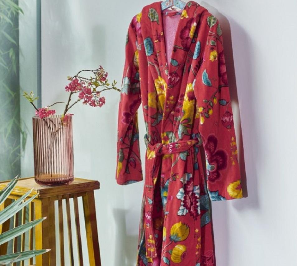 Pip badjas Floral Fantasy rood