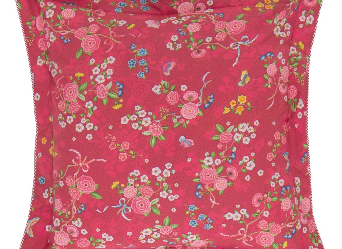 Pip Studio sierkussen Chinese Rose Bouquet red 45×45
