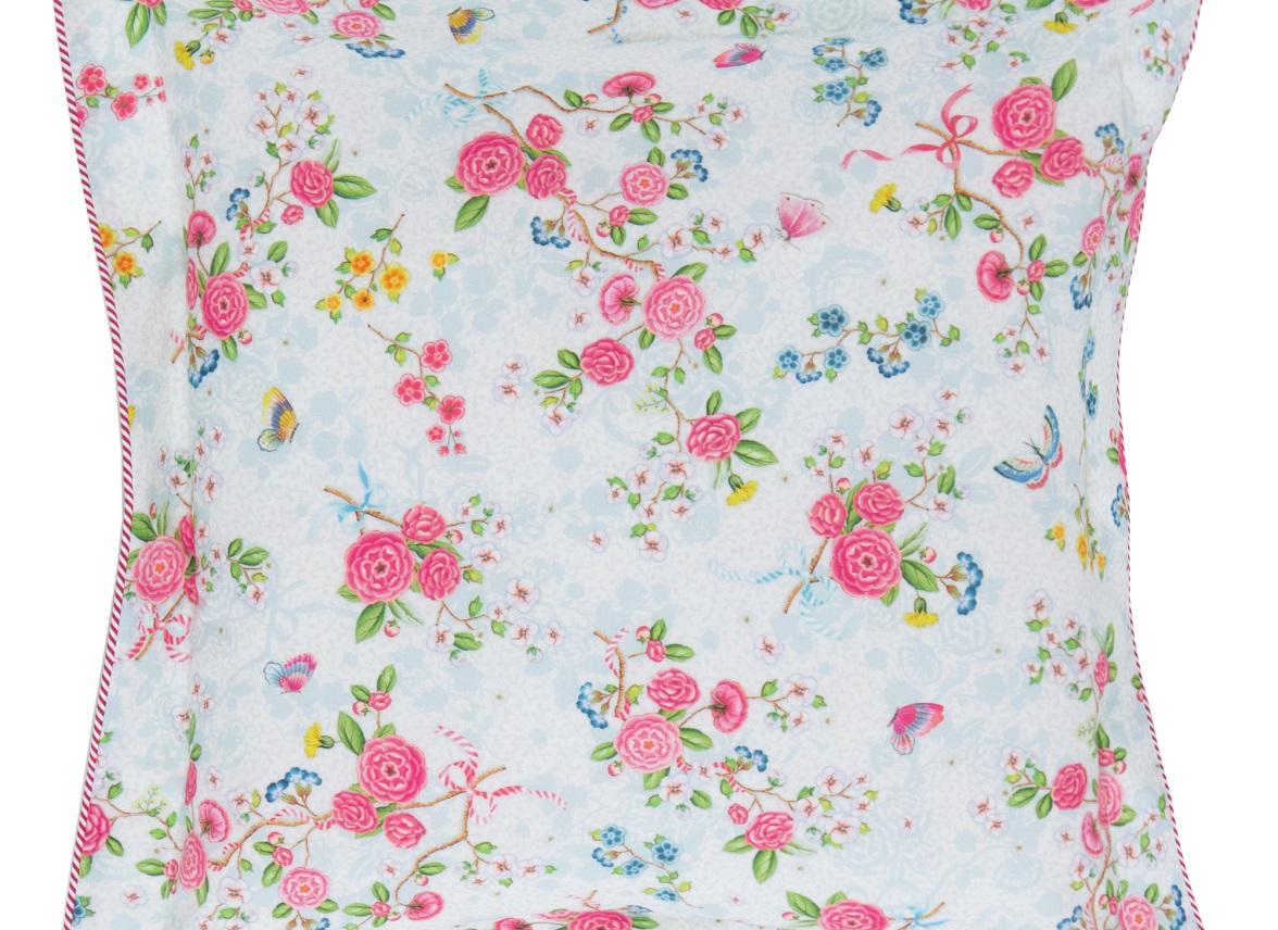 Pip Studio sierkussen Chinese Rose Bouquet wit 45×45