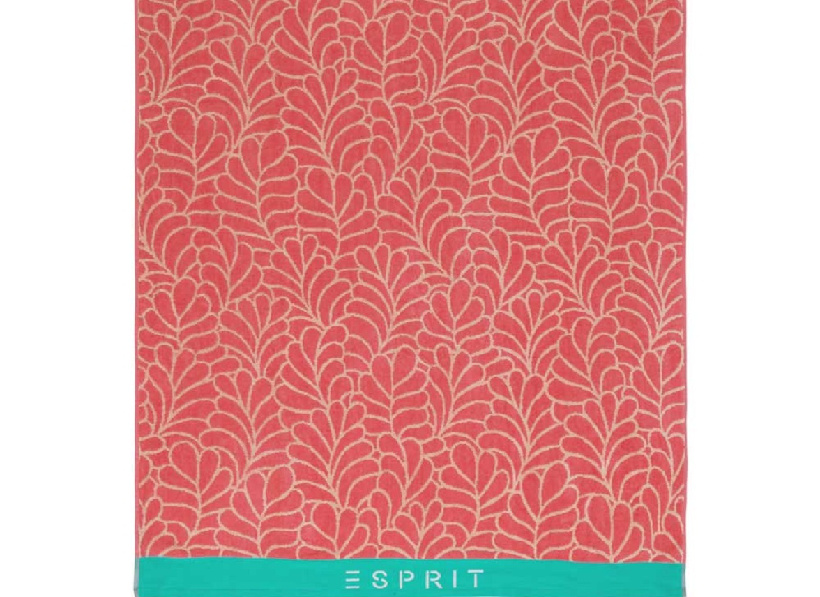 Esprit strandlaken Leaf pink
