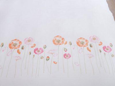 Marjolein Bastin dekbedovertrek Field Bouquet red