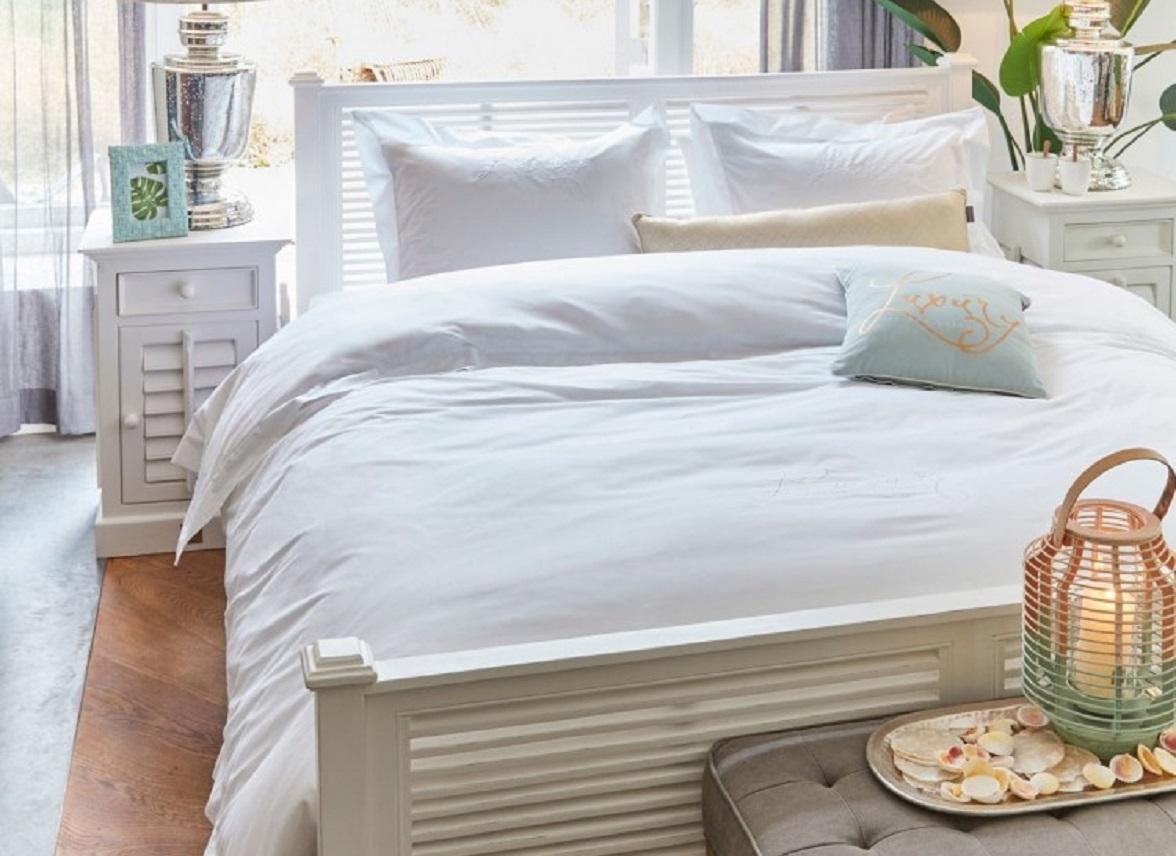 Riviera Maison dekbedovertrek Luxury white