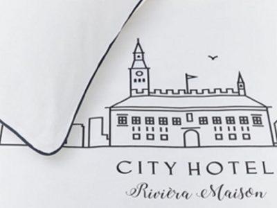 Riviera Maison dekbedovertrek City Hotel white