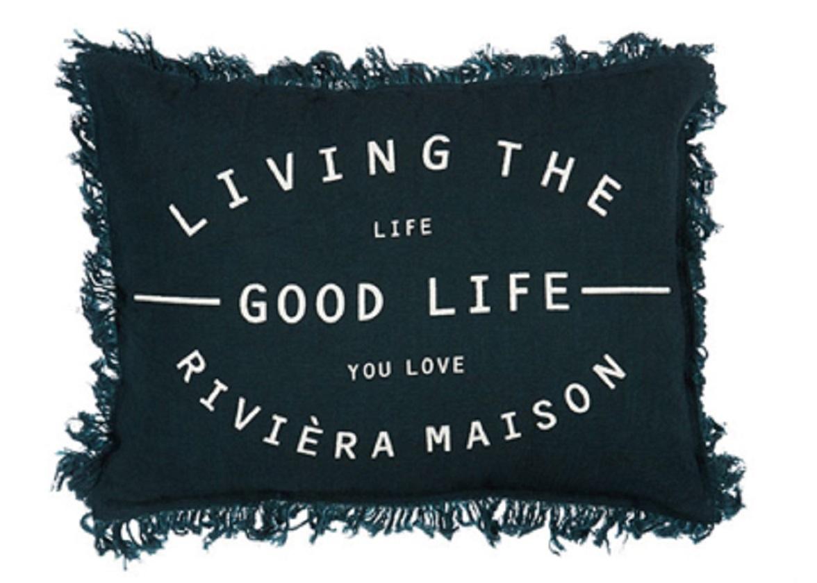 Riviera Maison sierkussen Good Life blue