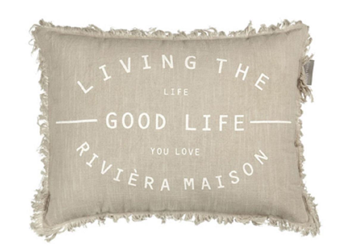 Riviera Maison sierkussen Good Life sand
