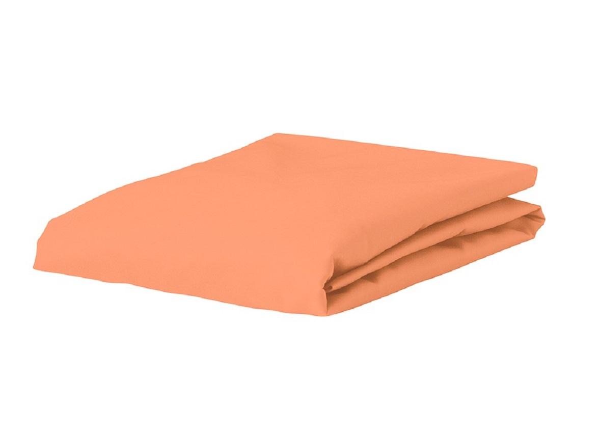 Essenza Home Premium Jersey hoeslaken, peach