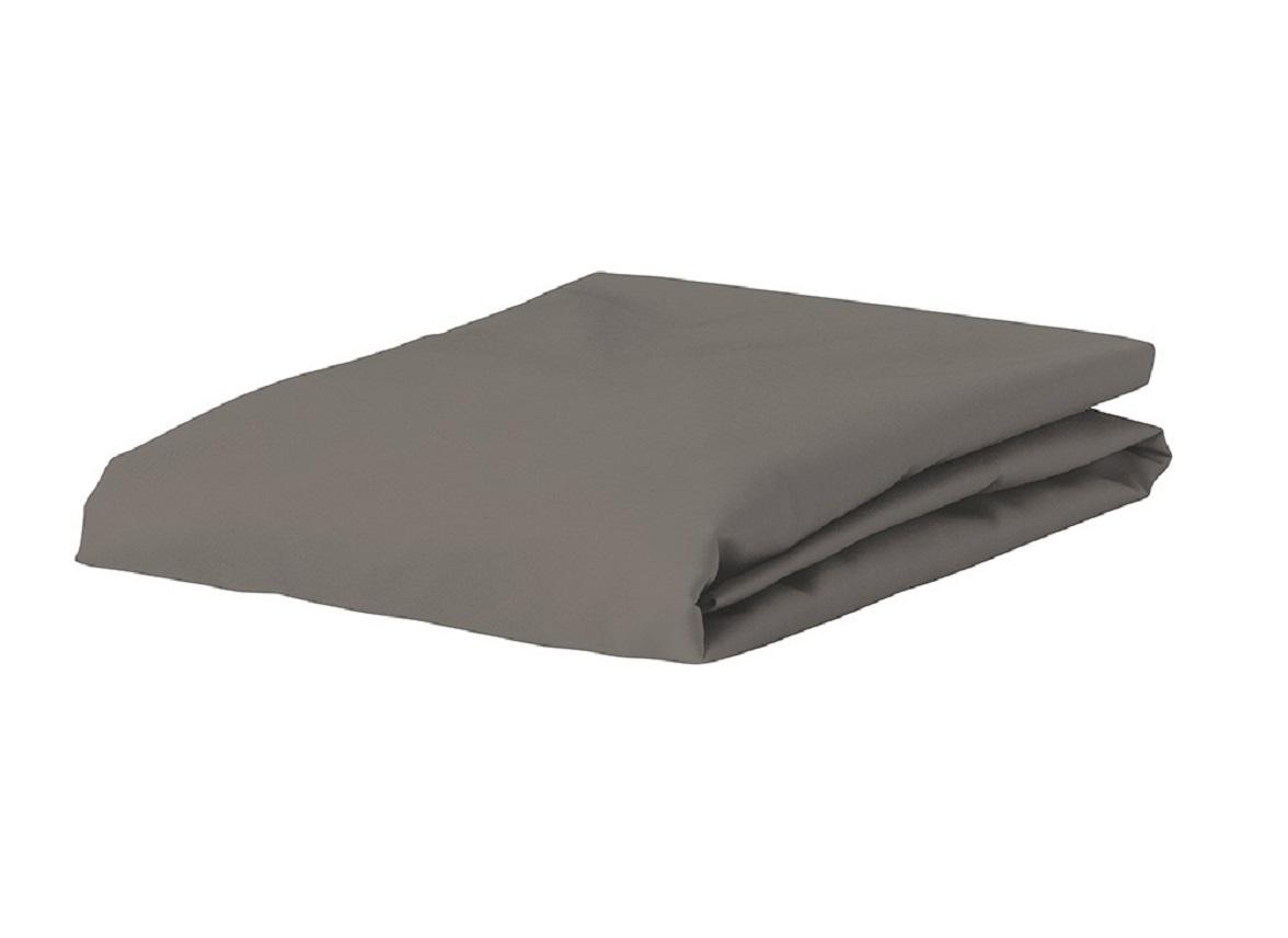 Essenza Home Premium Jersey hoeslaken, steel grey