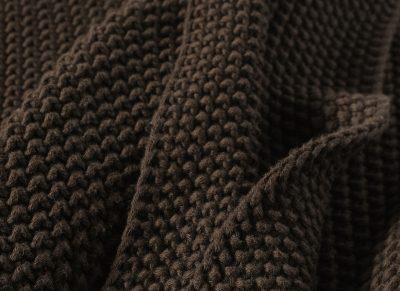 Marc O'Polo plaid Nordic Knit earth brown