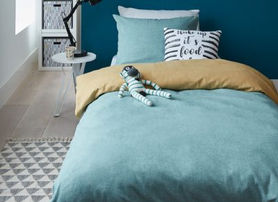 Beddinghouse dekbedovertrek flanel Boet blue