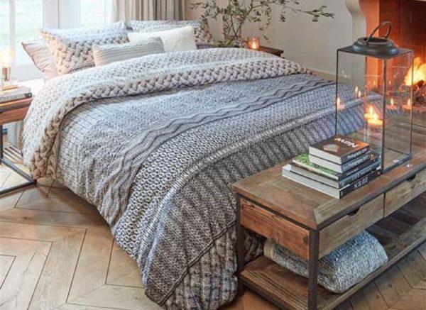 Riviera Maison dekbedovertrek Winter Warm grey
