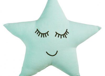 Beddinghouse sierkussen Dreaming star mint green