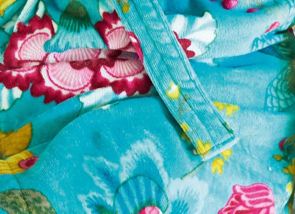 Pip badjas Floral Fantasy light petrol