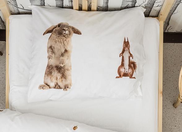 Snurk dekbedovertrek flanel Furry Friends