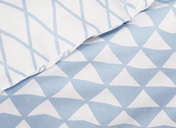 Esprit dekbedovertrek Mina blauw