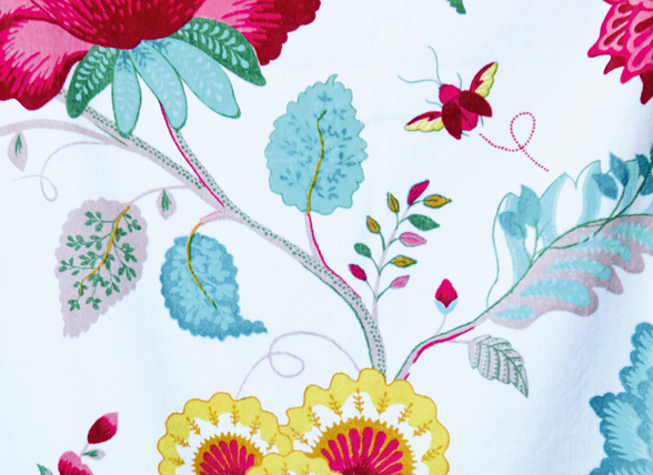 Pip badjas Floral Fantasy star white