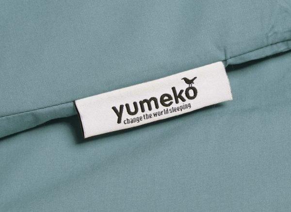 Yumeko dekbedovertrek perkal 300TC petrol blue