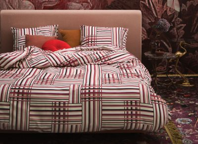 Essenza Home dekbedovertrek Evie red