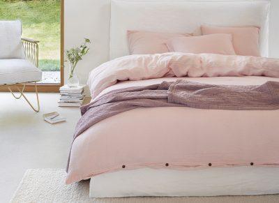 Marc O'Polo dekbedovertrek Kuva pink blush