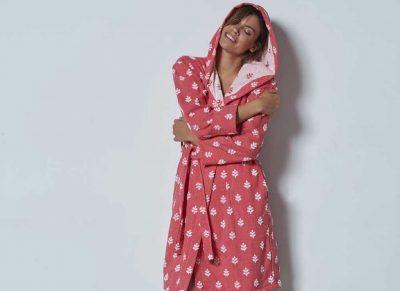 Pip Studio badjas Leaf Me pink