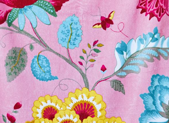 Pip badjas Floral Fantasy roze