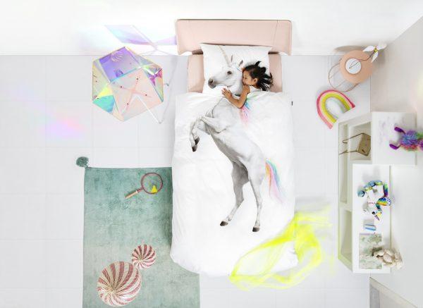 Snurk dekbedovertrek Unicorn