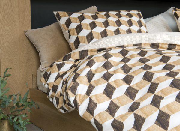 Snurk dekbedovertrek Wooden Cubes