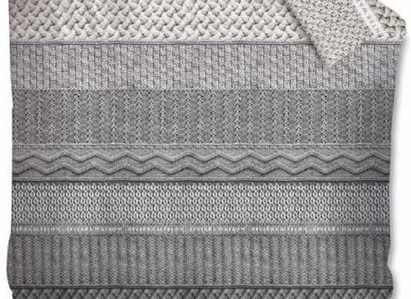 Riviera Maison dekbedovertrek Winter Warm grey
