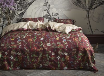 Essenza Home dekbedovertrek Aletta burgundy