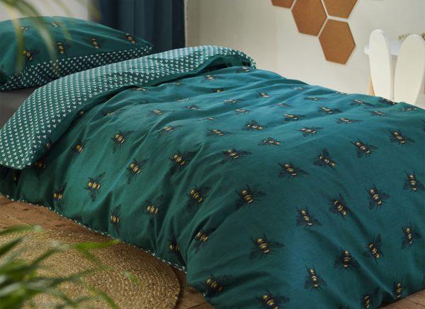 Covers & Co dekbedovertrek Bee You green