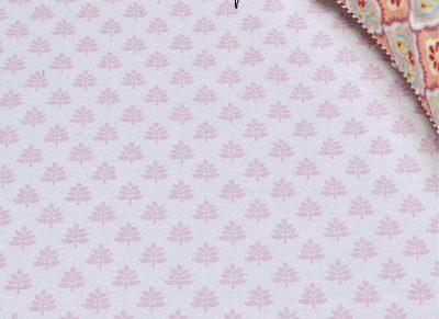 Pip Studio hoeslaken Leaf Me pink