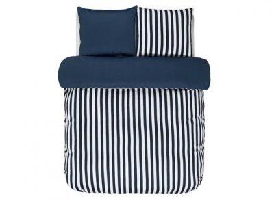 Marc O'Polo dekbedovertrek Classic Stripe indigo blue