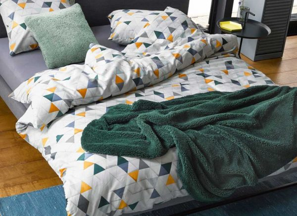 Essenza Home plaid Lammy pine green