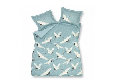 Vandyck dekbedovertrek Flying Cranes seagreen