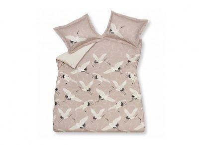 Vandyck dekbedovertrek Flying Cranes sepia pink