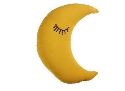 Beddinghouse sierkussen Sleeping Moon yellow