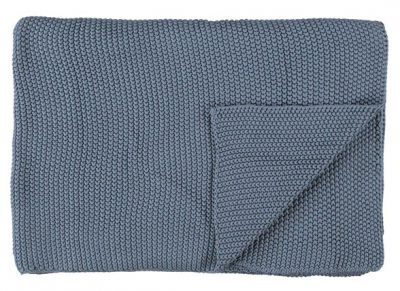 Marc O'Polo plaid Nordic Knit smoke blue