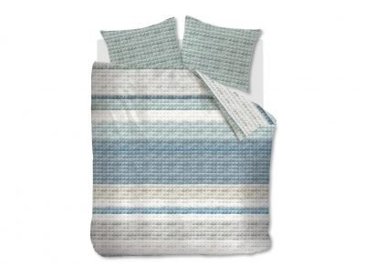 Ariadne at Home dekbedovertrek Quilted Squares blue