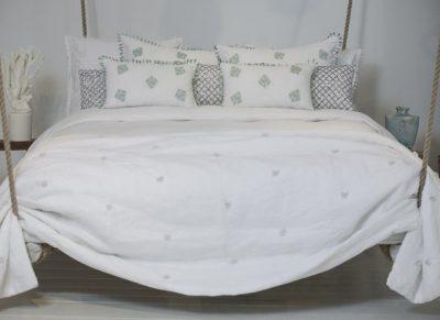 Flamant plaid Plume white