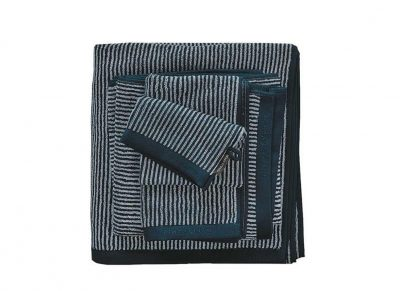 Marc O'Polo badgoed Timeless Tone Stripe marine/light silver