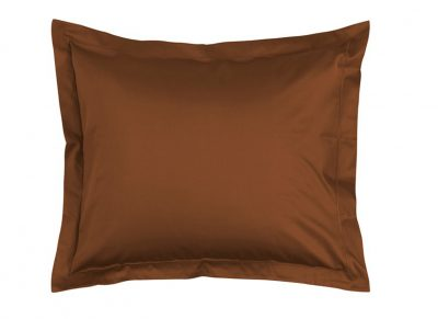 Essenza Home kussensloop katoen satijn, leather brown