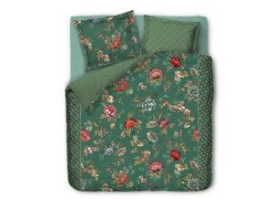 Pip Studio dekbedovertrek Poppy Stitch green