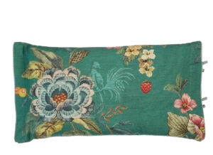 Pip Studio sierkussen Poppy Stitch green 35x60