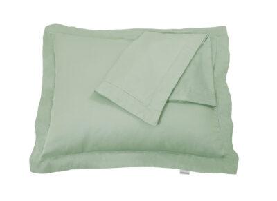 Fissaggio dekbedovertrek Hemstitch grayed jade